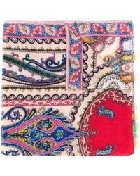 Etro Paisley Print Scarf - Pink