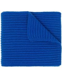 Pringle of Scotland チャンキーニット カシミアスカーフ - ブルー