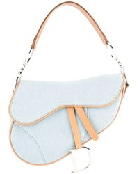 Dior Saddle-Bag aus Denim - Blau