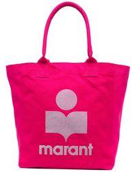 Isabel Marant ロゴ ハンドバッグ - ピンク