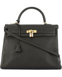 Hermès Kelly 35 2way ハンドバッグ - ブラック