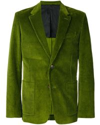 AMI Half-lined Two Buttons Jacket - Green