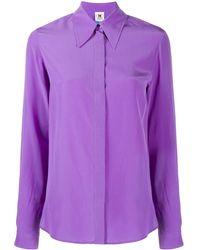 M Missoni Рубашка С Потайной Застежкой На Пуговицы - Пурпурный
