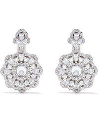 Chopard ハッピーダイヤモンド フラワー ピアス 18kホワイトゴールド - マルチカラー