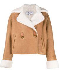 Loewe Shearling Lining Oversized Jacket - Multicolor