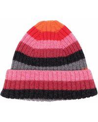 Molly Goddard Stripe-knit Hat - Pink