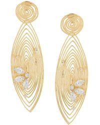 Gas Bijoux Wave Earrings - Metallic