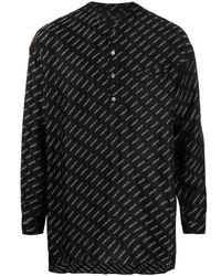 Ambush ロゴ バンドカラー シャツ - ブラック