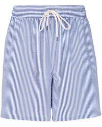 Polo Ralph Lauren Gestreifte Badeshorts - Blau
