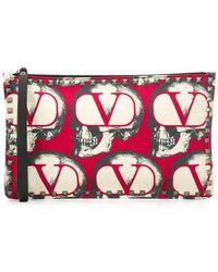 Valentino Garavani X Undercover Valentino Garavani Rockstud Clutch - Red