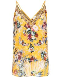 Camilla Maxi-jurk Met Bloemenprint - Geel