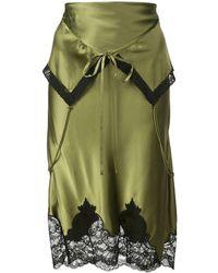 Alexander Wang Short Foldover-waist Skirt - Green