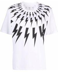 Neil Barrett Thunderbolt Tシャツ - ホワイト