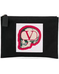 Valentino Buidel Met Doodskop Logo - Zwart