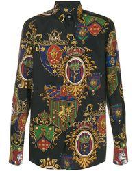Dolce & Gabbana Camisa con estampado barroco - Negro