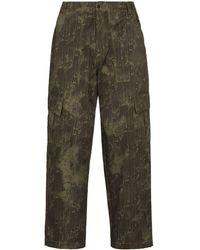 Paria Farzaneh Camouflage Straight-leg Pants - Green
