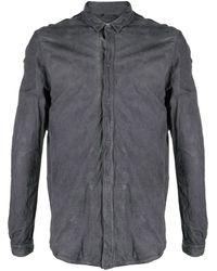 Giorgio Brato Snap-button Leather Shirt - Grey