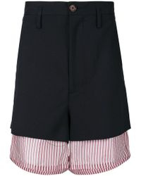 Marni - Shorts oversize en capas - Lyst