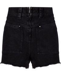 Ba&sh Shorts a vita alta David - Nero
