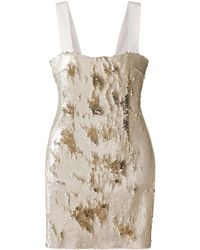 Galvan London Salar ドレス - ナチュラル