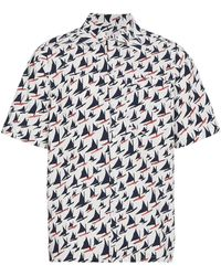 Marni Boat Print Short Sleeve Shirt - Wit