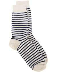 contrast stripe lurex socks - Nude & Neutrals Red Valentino Fake For Sale Buy Cheap Fashion Style Latest Collections  Outlet Visit Amazon For Sale RjE196HKO
