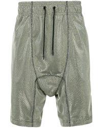 Tom Rebl - Metallic Woven Drop Crotch Shorts - Lyst