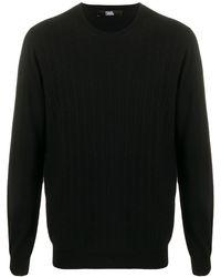 Karl Lagerfeld ラウンドネック セーター - ブラック