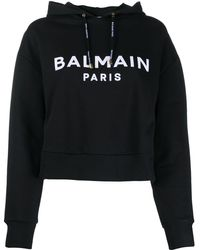 Balmain ロゴ パーカー - ブラック