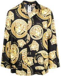 Versace Пижамная Рубашка С Принтом Medusa - Черный