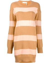 Chloé Трикотажное Платье С Вырезом На Спине - Многоцветный