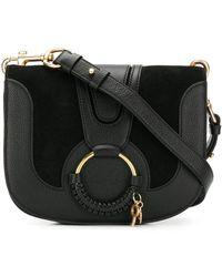 See By Chloé Hana Medium Saddle Bag - Zwart