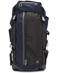Porter Buckled Multi-pocket Backpack - Blue
