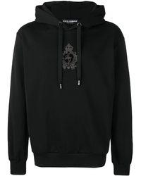 Dolce & Gabbana ロゴパッチ パーカー - ブラック