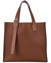 Loewe バックル ハンドバッグ - ブラウン