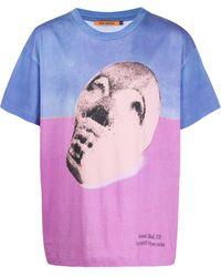 Vyner Articles カラーブロック Tシャツ - ブルー