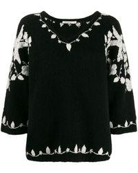Mes Demoiselles エンブロイダリー セーター - ブラック