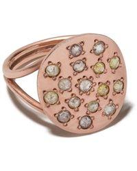 Brooke Gregson Anello Orbital in oro rosa 14kt con diamanti - Metallizzato
