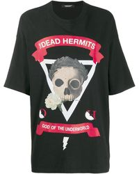 Undercover T-shirt The Dead Hermits oversize - Noir