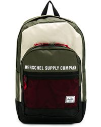 Herschel Supply Co. Zaino con design color-block - Verde