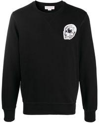 Alexander McQueen Sweatshirt mit Logo-Patch - Schwarz