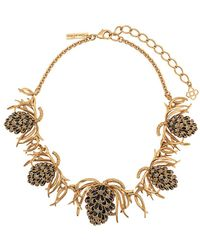 Oscar de la Renta Botanical Necklace - Metallic