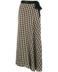 Forte Forte - Check Flared Maxi Skirt - Lyst
