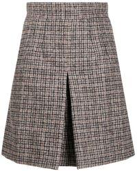 Dolce & Gabbana チェック Aラインスカート - ブラウン