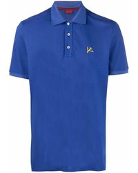Isaia ロゴ ポロシャツ - ブルー