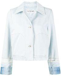 Loewe Укороченная Джинсовая Куртка С Контрастными Манжетами - Синий