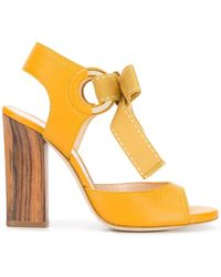 Lanvin Bow Tie Sandals - Yellow
