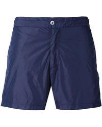 Officine Generale Classic Swim Shorts - Blue