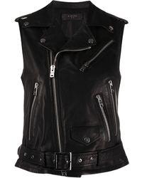 Amiri Fringed Biker Vest - Black