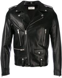 Saint Laurent - Zipped Biker Jacket - Lyst